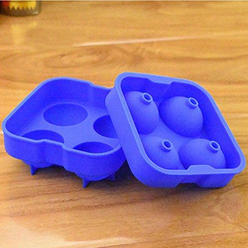 Qearly Haushaltsdose Runden Eiswuerfel Eiswuerfelbereiter Ice Tray-Blau