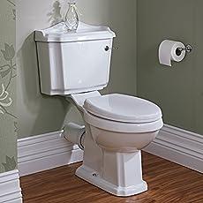 Hudson Reed Stand-WC Belmont - Zweiteilige Toilette aus Keramik inkl. Spülmechanismus und Sitz mit Absenkautomatik
