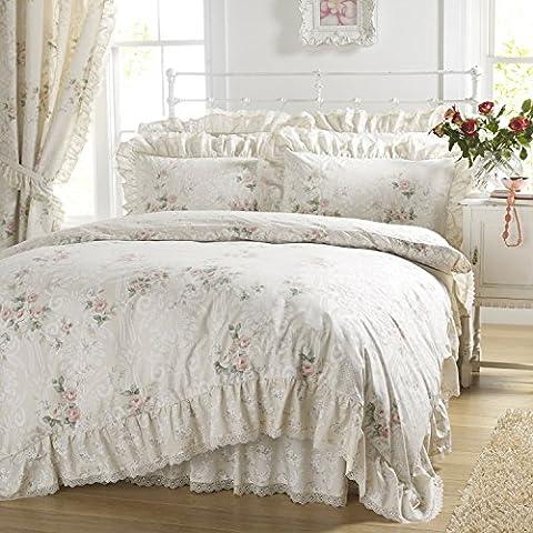 Country Vantona Charlotte Floral Print Frill Bedding Duvet Cover 2