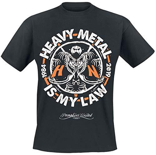 Helloween Heavy Metal Is My Law Camiseta Negro XL
