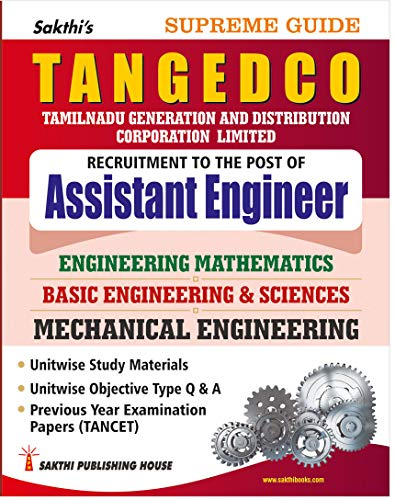 TANGEDCO & CORPORATION OF CHENNAI - Assistant Engineer Mechanical study material, objective type q&a, previous year solved papers