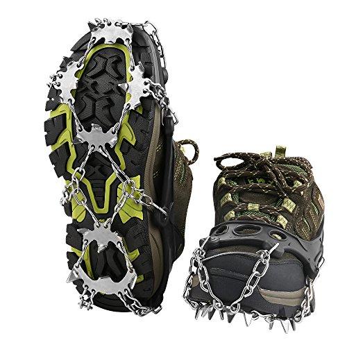 Schuhspikes, Terra Hiker Schuhkrallen mit 18 Zähnen, Steigeisen mit Edelstahlspikes für Bodenhaftung auf Eis und Schnee Test