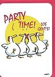 Witzige Geburtstagskarte Partytime Hühnertanz