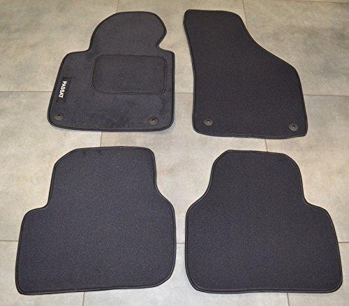 Fußmatten Autoteppich Teppich Satz 4 Teilig VW Passat B6 B7 Schwarz