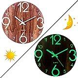 OIURV Lumineuse Horloge Murale Silencieuse Décoration Murale du Salon Cuisine Bureau - diamètre 30 cm - (Type 2)