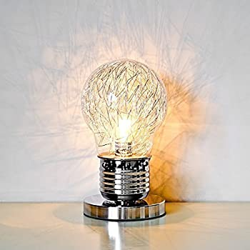 Light bulb table lamp amazon lighting shaped table lamp with inline switch glass clear aloadofball Gallery