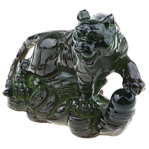 D DOLITY 1 Stück Tee Haustier Verzierung Hauptverzierung Gut für Tee-Liebhaber - Grün Tiger