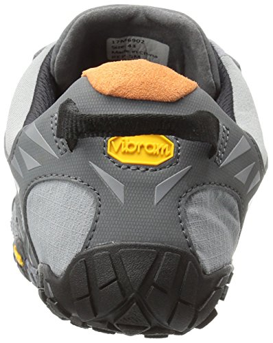 Vibram Five Fingers V, Chaussures de Trail Homme Gris (Grey/black/orange)