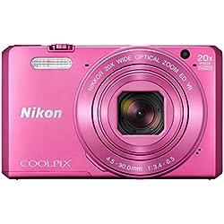 """Nikon Coolpix S7000 Appareil photo numérique compact 16 Mpix Écran LCD 3"""" Zoom optique 20X Rose"""