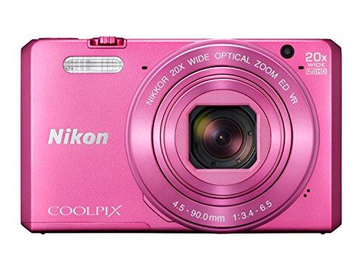 """Nikon Coolpix S7000 - Cámara compacta de 16.76 Mp (pantalla de 3"""", zoom óptico 20x, estabilizador digital), rosa"""