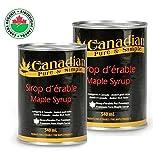 Sonderangebot : 2 x Kanadischer Ahornsirup 100% natürlich - Premiumauswahl : 540ml - Grad A (kostenloser Versand: siehe Bedingungen)