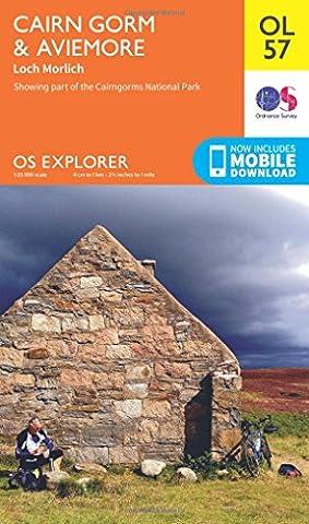 OS Explorer OL57 Cairn Gorm & Aviemore (OS Explorer Map)