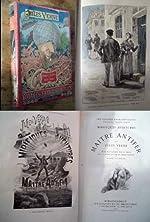 MIRIFIQUES AVENTURES DE MAITRE ANTIFER de JULES VERNE edition Hetzel portrait collé dos au phare (edition 1894 Originale) de Jules verne