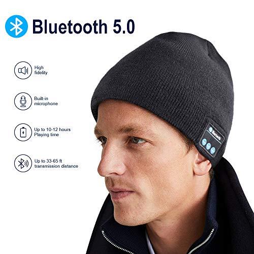 Cappello Bluetooth Idee Regalo Uomo - Cappello Uomo Donna Invernali, Berretto Bluetooth 5.0 Musica...