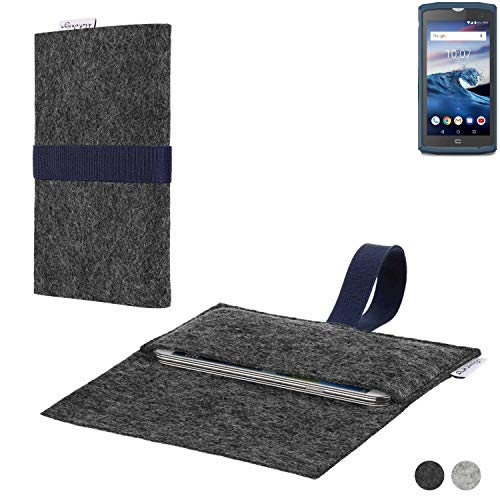 flat.design Handy Hülle Aveiro für Crosscall Core-X3 passgenaue Filz Tasche Case Sleeve Made in Germany