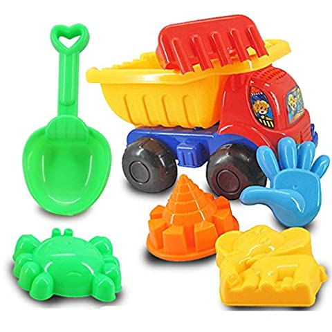 Beach Toys, SHOBDW 7Pcs Sand Sandbeach Kids Beach Toys Cute