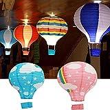 caxmtu Papier Laterne Air Ballon Regenbogen Form 30,5cm 30cm für Hochzeit Geburtstag Decor
