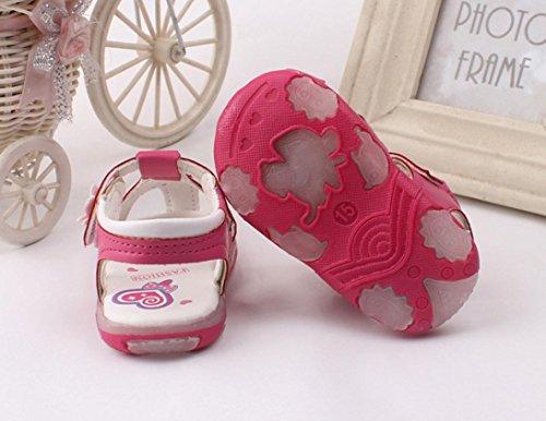 Igemy 1Paar Baby Kinder Kleinkind Sonnenblume Mädchen Sommer beleuchtete Soft-Soled Prinzessin Schuhe Pink