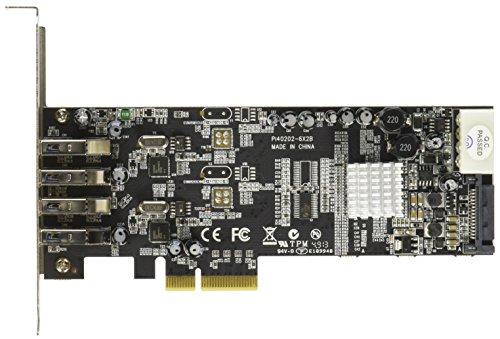 StarTech.com 4 Port  USB 3.0 SuperSpeed PCI Express Schnittstellenkarte mit 2 5Gb/s Kanälen und UASP - SATA/LP4 Molex Strom