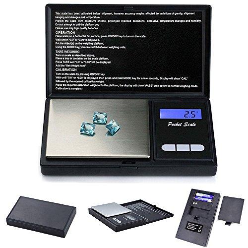 Balance électronique,100g~0.01g Mini Balance Numérique de Poche pour Balances électroniques de bijoux/ thé/ levure/café/farine/médecine/lait.