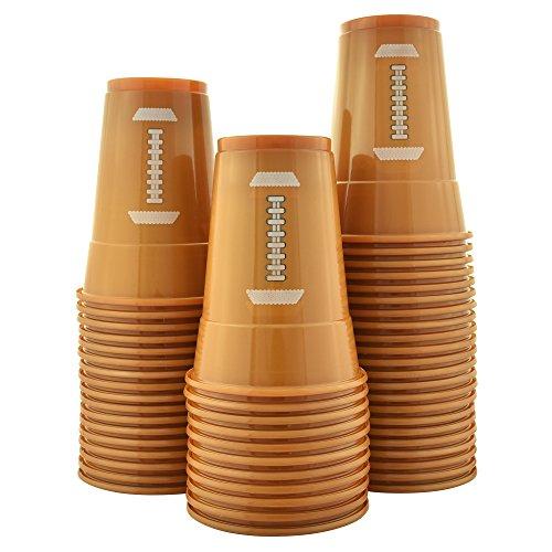 Unze Fußball Tassen | weicher Kunststoff Fußball Party Tassen ()
