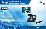 BB-EP/Thule 9003554103 Kompletter Premium Stahl-Dachträger für OPEL Mokka X 5 Türer SUV 2016 bis heute - Komplettset abschließbar - Inkl. BB-EP Schlüsselband und Insect Erase
