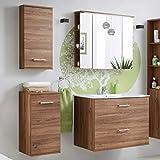 Badmöbel Set 'Marisa 80' Badezimmerschrank 5 tlg Waschbecken Waschtisch Spiegelschrank