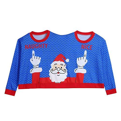 Zwei Personen Pullover Unisex Paare Neuheit Weihnachten Bluse -