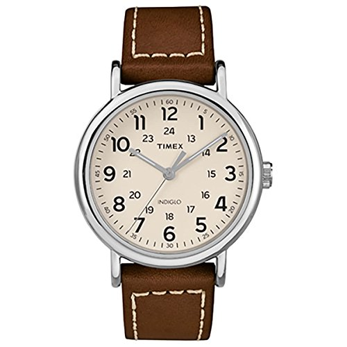 Timex tw2r42400Weekender 40Herren-Armbanduhr Tan 40mm Edelstahl Herren Armbanduhr Tan