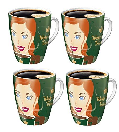 RITZENHOFF Sammelbecher 15. Edition limitiert Jacobs Kaffeebecher Becher Tasse (4er Set)