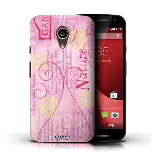 Kobalt® Imprimé Etui / Coque pour Motorola Moto G (2014) / Pourpre conception / Série Motif Nature Rose / Jaune