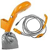 Camp4 12V Campingdusche, 12 Volt, inkl. Tuachpumpe und Schalter, Wasserdruckregler, orange