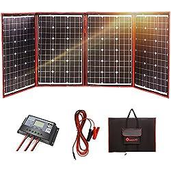 DOKIO Panneau solaire 200W 12V monocristallin pliable avec inverseur solaire