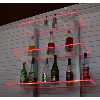 Design Bar Regal LED ideal Flaschen und Gläser: Amazon.de