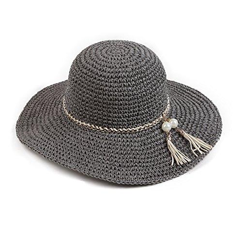 Femme chapeau/Chapeau de soleil/bonnet UV couvrant son visage/Voyage extérieur chapeau à large rebord/Chapeau de plage pliant/Chapeau de paille/Liang Mao B