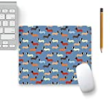 Colorpur Dog Vector Pattern Designer Mouse Pad Black Base - 8 in x 7 in | Artist: Designer Chennai