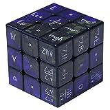 Lecc Cubo Cubos De Rubik Magic Cube Mathematical Chemistry 3X3x3 Increíble Monstruo De Halloween Smooth Brain Suave Velocidad Twisted 3D Puzzle Game,Black