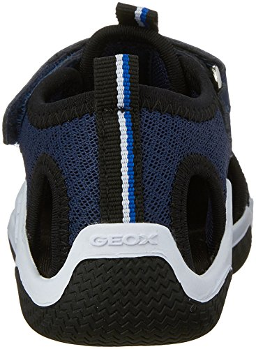 Geox Wader C, Sandales Bout Fermé Garçon Bleu (C0045)