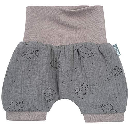 Lilakind - Pantalones Cortos de Verano para bebé, Muselina, Elefante, Menta, Rosa,...
