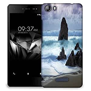 Snoogg Beach View Designer Protective Phone Back Case Cover For Micromax Canvas 5 E481