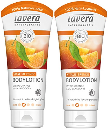 lavera Vitalisierende Bodylotion Bio Orange ∙ Intensive Feuchtigkeit ∙ Fruchtig frischer Orangenduft ∙ Body Lotion normale Haut ∙ vegan, Bio, Naturkosmetik, Natural, Körperpflege 2er Pack (2x200ml) -