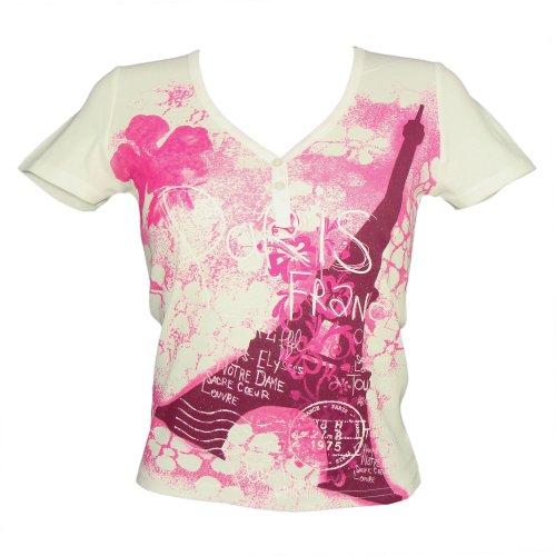 Souvenirs de France - T-Shirt Femme Tour Eiffel - Couleur : Blanc