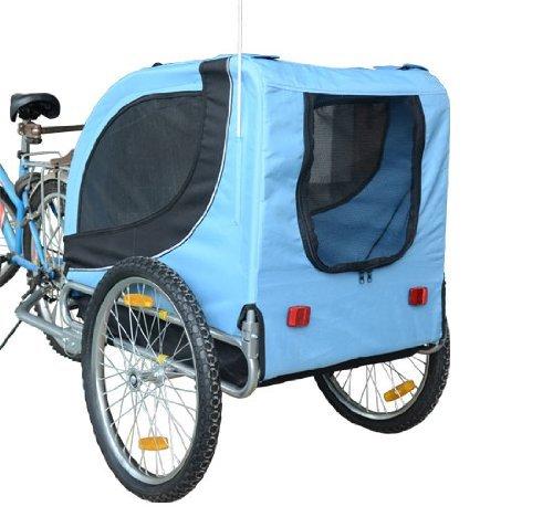 PawHut® Hundeanhänger Fahrradanhänger Hunde Fahrrad Anhänger Blau/Schwarz NEU - 3