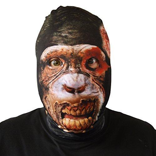 gruselig Schimpanse Gesichtsmaske Halloween Kostüm Erwachsene unheimlich Lycra Skin Horror