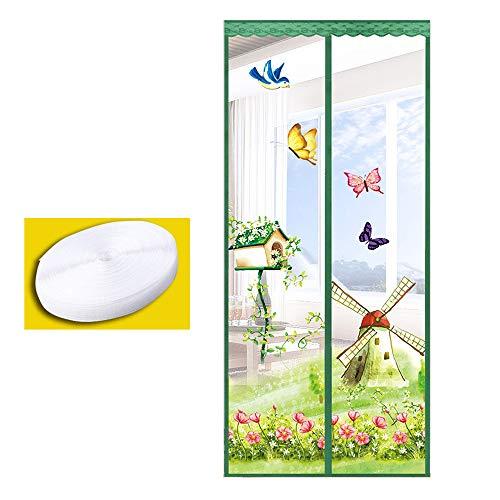 Moskito Vorhang Magnetische, atmungsaktive und verschlüsselte Fliegengittertüren, Sommerschlafzimmer-Fenstertüren, weiche Klettvorhänge, Maßanfertigung -