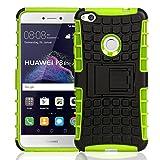 Handycop Outdoor Case für Huawei P8 Lite 2017 Hülle extrem robuste Schutzhülle Back Cover - Grün