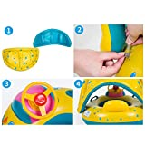 MOMEY Aufblasbare Baby Pool Float Schwimmen Ring Baby Sitzboot Yacht Sonnencreme Markise Wasser Spielzeug