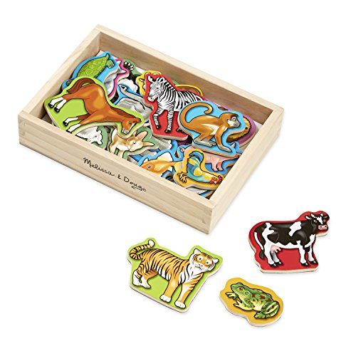 Melissa & Doug 10475 Wooden Animal Magnets in a Box - 20 Pieces