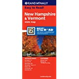 New Hampshire Vermont State Map (Rand McNally Easy to Read!)
