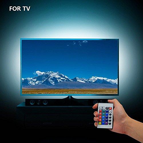 fourHeart LED TV Hintergrundbeleuchtung USB LED Beleuchtung Für 40 bis 60 HDTV RGB LED TV Beleuchtung mit 24keys Fernbedienung (2M/6.56ft)